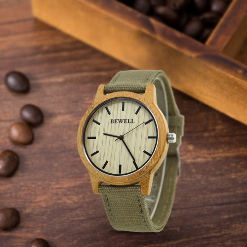 BEWELL New Fashion Quartz Men Women Wooden Watches Analog Nylon Strap Casual Wood Wristwatch Masculino Feminio Relogio + BoxApparel &amp; Jewelry<br>BEWELL New Fashion Quartz Men Women Wooden Watches Analog Nylon Strap Casual Wood Wristwatch Masculino Feminio Relogio + Box<br>