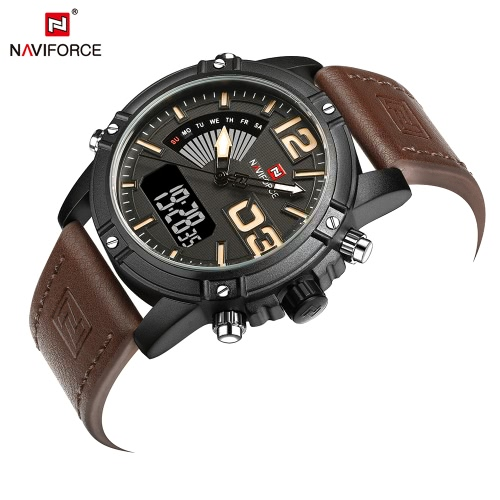 NAVIFORCE NF9095M Dual Display Men Sports WatchApparel &amp; Jewelry<br>NAVIFORCE NF9095M Dual Display Men Sports Watch<br>