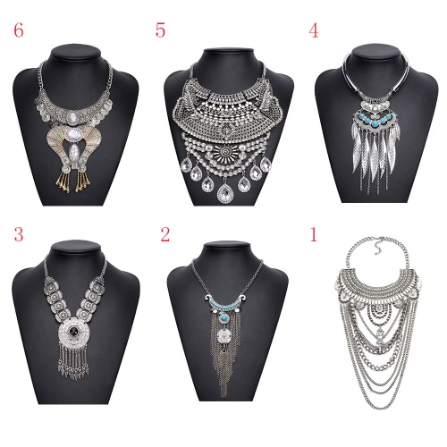 Bohemia Boho Gypsy Tribal Ethnic Vintage Retro Tassels Necklace Choker Bib Jewelry Chain for Women Girl Gift PartyApparel &amp; Jewelry<br>Bohemia Boho Gypsy Tribal Ethnic Vintage Retro Tassels Necklace Choker Bib Jewelry Chain for Women Girl Gift Party<br>