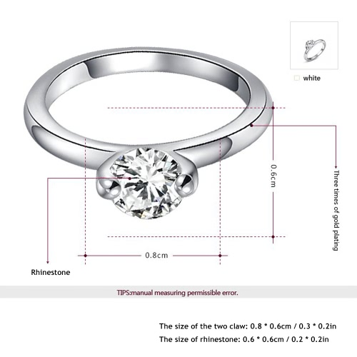 Roxi High Quality Fashion New Hot Sale Jewelry Rhinestone Gold Plated Ring for Women Engagement Wedding GiftApparel &amp; Jewelry<br>Roxi High Quality Fashion New Hot Sale Jewelry Rhinestone Gold Plated Ring for Women Engagement Wedding Gift<br>