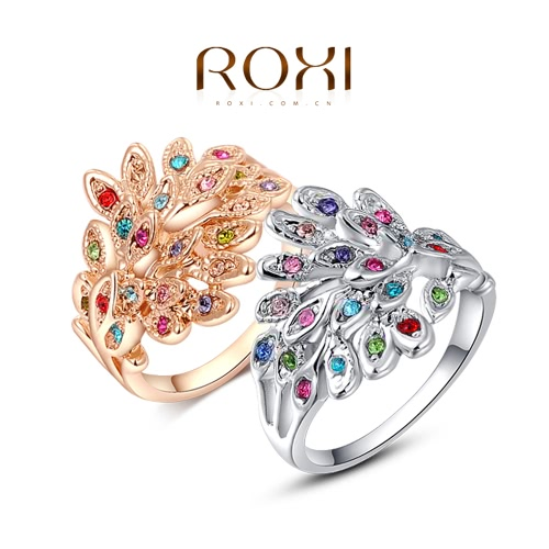 Roxi New Fashion Hot Charm Gold Plated Ring with Colorful Zircons Rhinestone Crystal for Women Girls Party GiftApparel &amp; Jewelry<br>Roxi New Fashion Hot Charm Gold Plated Ring with Colorful Zircons Rhinestone Crystal for Women Girls Party Gift<br>