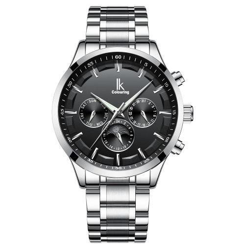 IK COLORING Luxus leuchtende Männer automatische mechanische Uhr