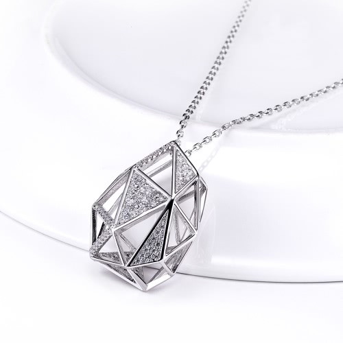 JURE S925 Solid Sterling Silver Chain Necklace The One Jewelry Zirconia 18 InchApparel &amp; Jewelry<br>JURE S925 Solid Sterling Silver Chain Necklace The One Jewelry Zirconia 18 Inch<br>
