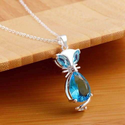 Fashion Unique Style Lovely Animal Fox Copper Zircon Rhinestone Crystal Necklace Chain Jewelry for Women Girls Gift Wedding PartyApparel &amp; Jewelry<br>Fashion Unique Style Lovely Animal Fox Copper Zircon Rhinestone Crystal Necklace Chain Jewelry for Women Girls Gift Wedding Party<br>