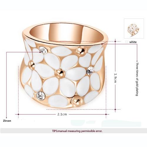 Roxi Fashion Enamel Flower Zircon Crystal Rhinestone Womens Gold Plated RingApparel &amp; Jewelry<br>Roxi Fashion Enamel Flower Zircon Crystal Rhinestone Womens Gold Plated Ring<br>