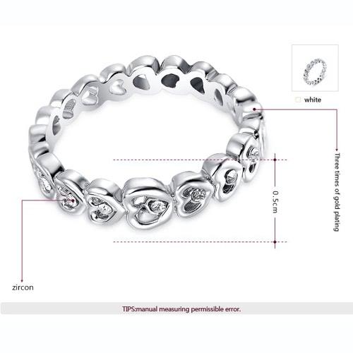 Roxi Fashion Zircon Crystal Rhinestone Gold Plated Heart Designed Ring Jewelry for Women Gift EngagementApparel &amp; Jewelry<br>Roxi Fashion Zircon Crystal Rhinestone Gold Plated Heart Designed Ring Jewelry for Women Gift Engagement<br>