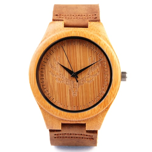 REDEAR Healthy Natural Bamboo Wristwatch with Reindeer Dial Daily Water Resistant Simplicity Trendy Man Watch for Wedding AnniversApparel &amp; Jewelry<br>REDEAR Healthy Natural Bamboo Wristwatch with Reindeer Dial Daily Water Resistant Simplicity Trendy Man Watch for Wedding Annivers<br>