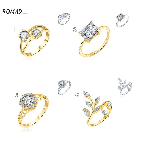 ROMAD Fashion Unique Hot Charm Metal Copper Gold Plated Zircon Rhinestone Crystal Ring for Party Wedding Engagement Jewelry AccessApparel &amp; Jewelry<br>ROMAD Fashion Unique Hot Charm Metal Copper Gold Plated Zircon Rhinestone Crystal Ring for Party Wedding Engagement Jewelry Access<br>