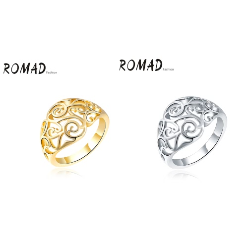 ROMAD Fashion Unique Hot Charm Metal Copper Gold Plated Hollow Ring for Party Wedding Engagement Jewelry Accessory Women GirlApparel &amp; Jewelry<br>ROMAD Fashion Unique Hot Charm Metal Copper Gold Plated Hollow Ring for Party Wedding Engagement Jewelry Accessory Women Girl<br>