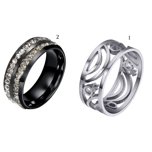 Fashion New Hot Unique Punk Female Metal Titanium Steel Ring for Woman Party Wedding Band Gift Charm JewelryApparel &amp; Jewelry<br>Fashion New Hot Unique Punk Female Metal Titanium Steel Ring for Woman Party Wedding Band Gift Charm Jewelry<br>
