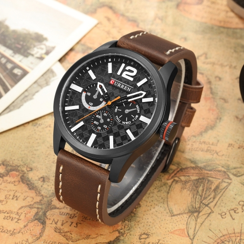 CURREN 2017 Luxury Sports Style Water-Proof Quartz Men Watch PU Leather Band Chrono Cool Man Casual WristwatchApparel &amp; Jewelry<br>CURREN 2017 Luxury Sports Style Water-Proof Quartz Men Watch PU Leather Band Chrono Cool Man Casual Wristwatch<br>