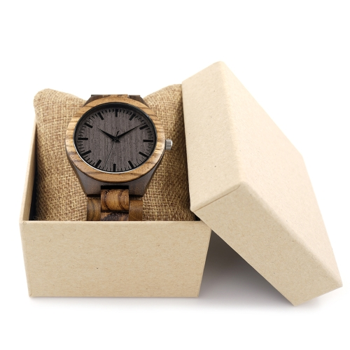 BOBOBIRD Fashion Simple Ebony Men Watches Quartz Wooden Zebrawood Casual Wristwatch ManApparel &amp; Jewelry<br>BOBOBIRD Fashion Simple Ebony Men Watches Quartz Wooden Zebrawood Casual Wristwatch Man<br>