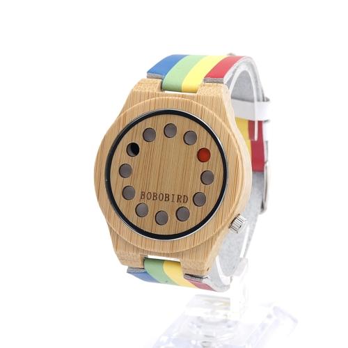 BOBOBIRD Simple Bamboo Watch Unisex Quartz Watch Genuine Leather Wooden Wristwatches Men WomenApparel &amp; Jewelry<br>BOBOBIRD Simple Bamboo Watch Unisex Quartz Watch Genuine Leather Wooden Wristwatches Men Women<br>