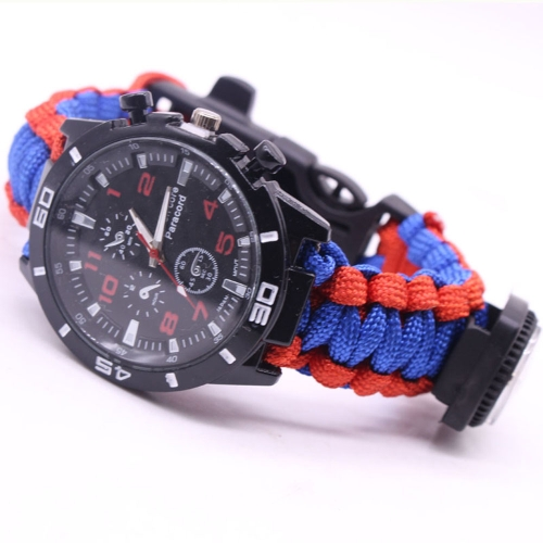5 in 1 Outdoor Survival Watch Paracord Bracelet with Compass/Fire Starter/Whistle/Paracord Emergency Survival Tool KitsApparel &amp; Jewelry<br>5 in 1 Outdoor Survival Watch Paracord Bracelet with Compass/Fire Starter/Whistle/Paracord Emergency Survival Tool Kits<br>
