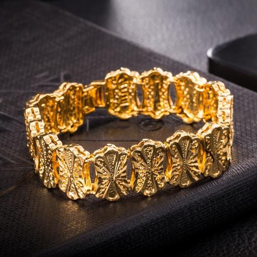 Popular Gold Plated Jewelry Fashion Women Lady High Quality Beautiful Wide BraceletApparel &amp; Jewelry<br>Popular Gold Plated Jewelry Fashion Women Lady High Quality Beautiful Wide Bracelet<br>