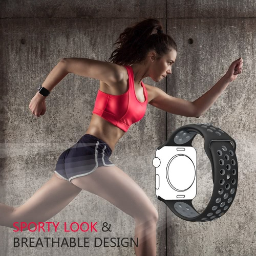 Breathable Silicone Replacement Sport Strap BraceletApparel &amp; Jewelry<br>Breathable Silicone Replacement Sport Strap Bracelet<br>