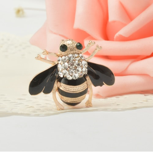 Fashion Cute Bee Brooch Bouquet Hat Scarf Clip Accessory Crystal Breastpin for Women PartyApparel &amp; Jewelry<br>Fashion Cute Bee Brooch Bouquet Hat Scarf Clip Accessory Crystal Breastpin for Women Party<br>