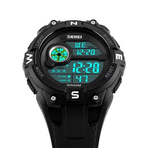 SKMEI 5ATM Water-resistant Sport Watch Men Watches Digital Wristwatch Male Backlight ChronographApparel &amp; Jewelry<br>SKMEI 5ATM Water-resistant Sport Watch Men Watches Digital Wristwatch Male Backlight Chronograph<br>