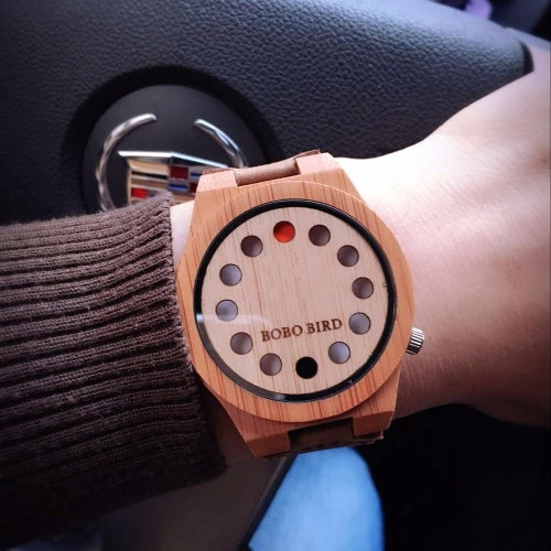 BOBOBIRD Fashion Casual Bamboo Watch Unisex Quartz Watch Genuine Leather Wooden Wristwatch Men WomenApparel &amp; Jewelry<br>BOBOBIRD Fashion Casual Bamboo Watch Unisex Quartz Watch Genuine Leather Wooden Wristwatch Men Women<br>