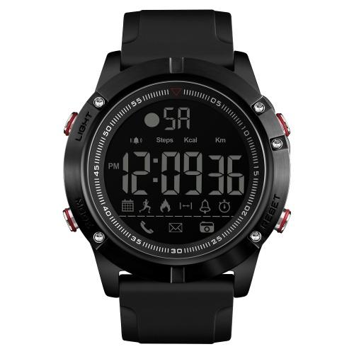 SKMEI 1425 orologio intelligente orologio digitale analogico con pedometro fitness calorie Tracker Orologio sportivo moda casual orologio da polso 3ATM impermeabile LCD BT orologi multifunzionali per Android e iOS