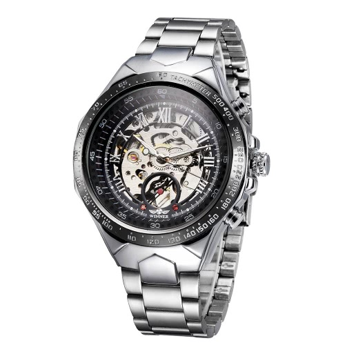WINNER Self-Winding Skeleton with Big Dial Automatic Mechanical Watch for MenApparel &amp; Jewelry<br>WINNER Self-Winding Skeleton with Big Dial Automatic Mechanical Watch for Men<br>