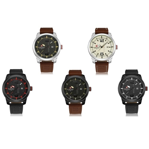 NAVIFORCE Classic Luxury Analog Quartz Watch 3ATM Water Resistant High Quality Comfortable PU Watchband Casual Man Wristwatch withApparel &amp; Jewelry<br>NAVIFORCE Classic Luxury Analog Quartz Watch 3ATM Water Resistant High Quality Comfortable PU Watchband Casual Man Wristwatch with<br>