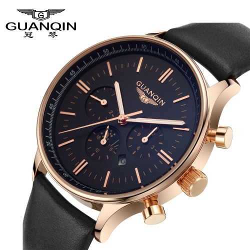 GUANQIN Brand New Luxury Fashion Man Quartz Watch Big Dial Sport Casual Men Wristwatch Dual CalendarApparel &amp; Jewelry<br>GUANQIN Brand New Luxury Fashion Man Quartz Watch Big Dial Sport Casual Men Wristwatch Dual Calendar<br>