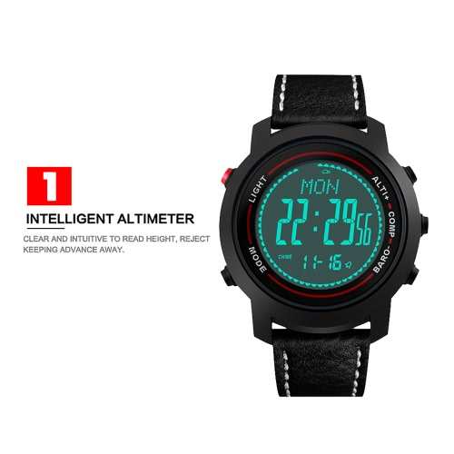 BOZLUN Luxury Brand Man Watch Sport Digital Men Watches Genuine Leather 50m Water Resistant EL Back Light Display Barometer CompasApparel &amp; Jewelry<br>BOZLUN Luxury Brand Man Watch Sport Digital Men Watches Genuine Leather 50m Water Resistant EL Back Light Display Barometer Compas<br>