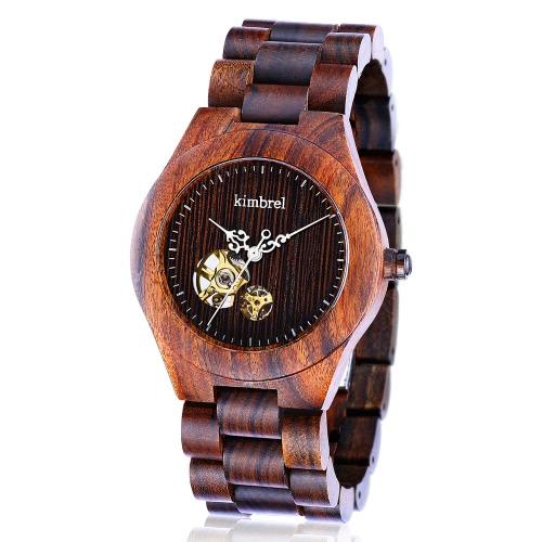 Kimbrel Trendy Unisex Waterproof Wooden Automatic Mechanical Self-winding WatchApparel &amp; Jewelry<br>Kimbrel Trendy Unisex Waterproof Wooden Automatic Mechanical Self-winding Watch<br>