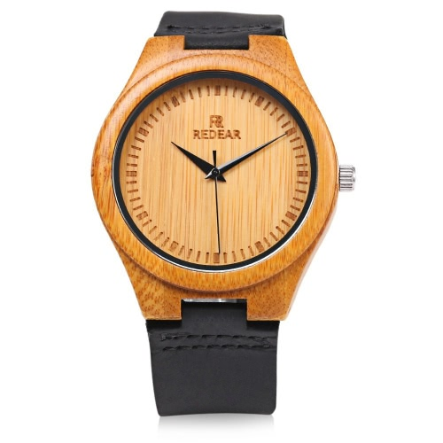 REDEAR Simple Dial Unique Natural Bamboo Wristwatch Daily Water Resistant High-end Man Quartz Watch for Wedding AnniversaryApparel &amp; Jewelry<br>REDEAR Simple Dial Unique Natural Bamboo Wristwatch Daily Water Resistant High-end Man Quartz Watch for Wedding Anniversary<br>