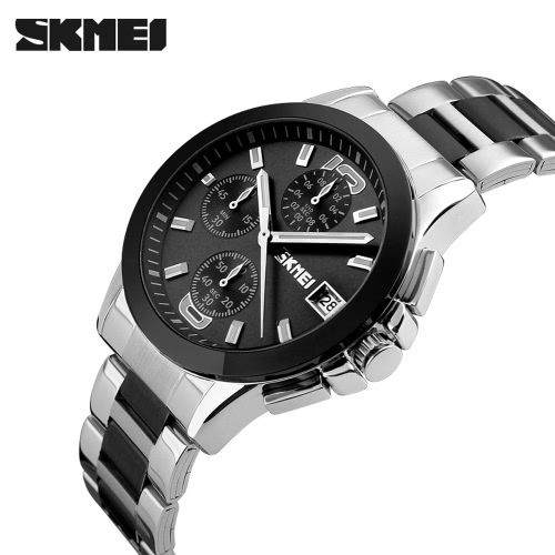 SKMEI 2016 Top Brand New Arrival Men Business Luxury Wristwatch Six Pins Quartz Watch 30M Waterproof Dress Watches StopwatchApparel &amp; Jewelry<br>SKMEI 2016 Top Brand New Arrival Men Business Luxury Wristwatch Six Pins Quartz Watch 30M Waterproof Dress Watches Stopwatch<br>