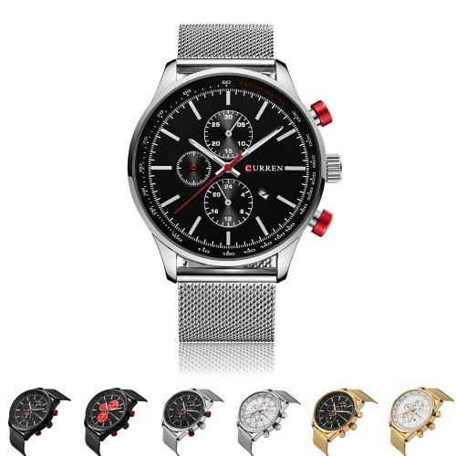 CURREN 2016 Brand Luxury Mens Quartz Casual Watch 30M Daily Water-resistant Man Business Wristwatch W/ Calendar Watch for ManApparel &amp; Jewelry<br>CURREN 2016 Brand Luxury Mens Quartz Casual Watch 30M Daily Water-resistant Man Business Wristwatch W/ Calendar Watch for Man<br>