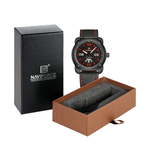 NAVIFORCE Man Fashion Casual Sports Wristwatch Watch 3ATM Water Resistant PU Leather Strap Man Quartz Wristwatch with Calendar FunApparel &amp; Jewelry<br>NAVIFORCE Man Fashion Casual Sports Wristwatch Watch 3ATM Water Resistant PU Leather Strap Man Quartz Wristwatch with Calendar Fun<br>