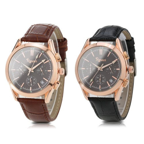 Romacci 5ATM Water Resistant Classic Mens Man Watch Analog Watch High Quality Geniune Leather Quartz Wristwatch with Date FunctioApparel &amp; Jewelry<br>Romacci 5ATM Water Resistant Classic Mens Man Watch Analog Watch High Quality Geniune Leather Quartz Wristwatch with Date Functio<br>