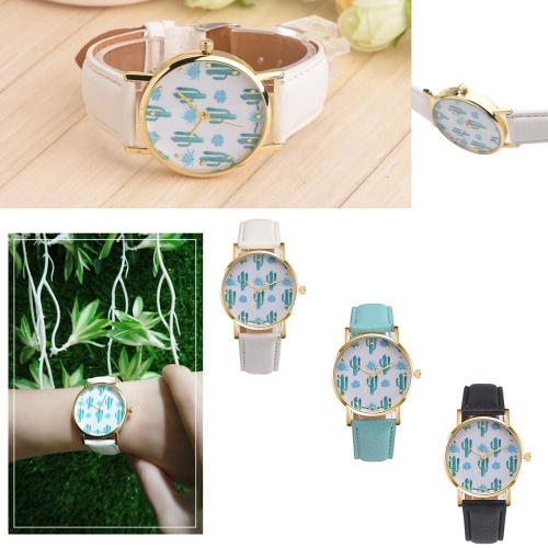 PAPHITAK New Fashion Cactus Wrist Watch Students Quartz Watch Leather Belt Cacti Women Wrist WatchApparel &amp; Jewelry<br>PAPHITAK New Fashion Cactus Wrist Watch Students Quartz Watch Leather Belt Cacti Women Wrist Watch<br>