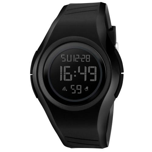 SKMEI 5ATM Sport résistant Sport Watch Étudiants Montre rétro-éclairage Montre-bracelet Homme Chronographe Alarme