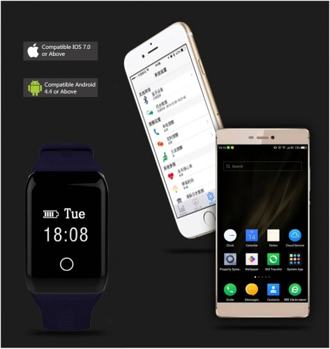 OLED Water-Proof BT4.0 Smart Wrist Band 0.66 Touch Screen Smart Bracelet Fitness Tracker Heart Rate Pedometer Sleep Monitor for IApparel &amp; Jewelry<br>OLED Water-Proof BT4.0 Smart Wrist Band 0.66 Touch Screen Smart Bracelet Fitness Tracker Heart Rate Pedometer Sleep Monitor for I<br>