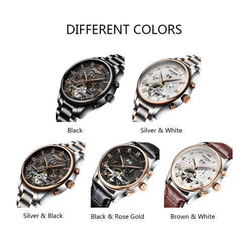 KINYUED Business Watch Automatic Mechanical Watches 3ATM Water-resistant Men Wristwatch MaleApparel &amp; Jewelry<br>KINYUED Business Watch Automatic Mechanical Watches 3ATM Water-resistant Men Wristwatch Male<br>