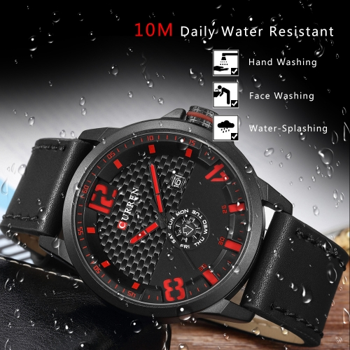 CURREN 2017 Cool PU Leather Quartz Men Watch Water-Proof Calendar Man Casual WristwatchApparel &amp; Jewelry<br>CURREN 2017 Cool PU Leather Quartz Men Watch Water-Proof Calendar Man Casual Wristwatch<br>