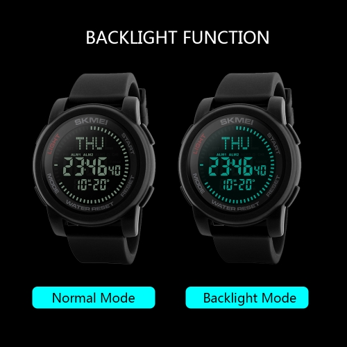 SKMEI Sport Digital Watch 5ATM Water-resistant Men Watches Backlight Wristwatch Male Relogio Musculino ChronographApparel &amp; Jewelry<br>SKMEI Sport Digital Watch 5ATM Water-resistant Men Watches Backlight Wristwatch Male Relogio Musculino Chronograph<br>