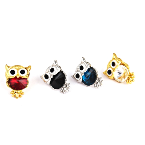 Fashion Naughty Owl Crystal Rhinestone Sparkle Cubic Zirconia Ear Studs Earrings Women JewelryApparel &amp; Jewelry<br>Fashion Naughty Owl Crystal Rhinestone Sparkle Cubic Zirconia Ear Studs Earrings Women Jewelry<br>