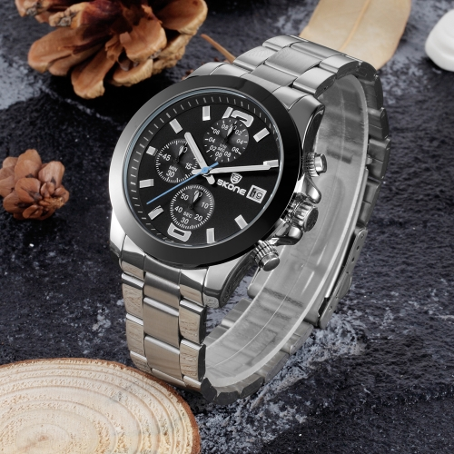 SKONE Luxury Luminous Quartz Stainless Steel Man Watch Water-Proof Chronograph Men Business Wristwatch CalendarApparel &amp; Jewelry<br>SKONE Luxury Luminous Quartz Stainless Steel Man Watch Water-Proof Chronograph Men Business Wristwatch Calendar<br>