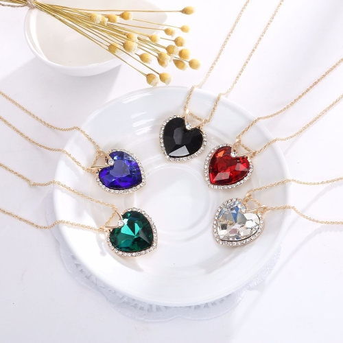 Gold Plated Jewelry Set for Women Crystal Heart Necklace Earrings Jewelry Wedding AccessoriesApparel &amp; Jewelry<br>Gold Plated Jewelry Set for Women Crystal Heart Necklace Earrings Jewelry Wedding Accessories<br>