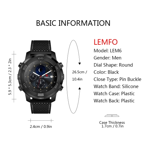 LEMFO LEM6 3G Smart WatchCellphone &amp; Accessories<br>LEMFO LEM6 3G Smart Watch<br>