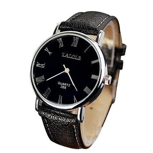 YAZOLE 268 Man Fashion Casual Business Leather Quartz Watch