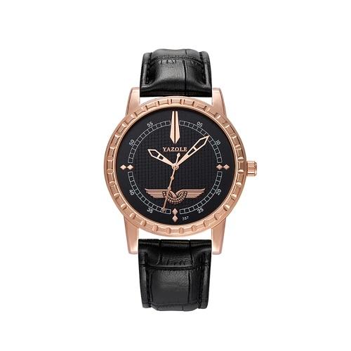 Reloj de hombre de lujo de la marca YAZOLE 387 Brand Reloj de pulsera de negocio casual de la muñeca