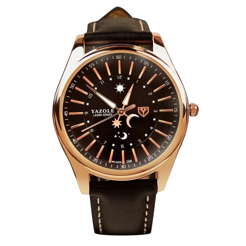 YAZOLE 368 Leather Watch Men Top Brand Luxury Brand Reloj de pulsera Hombre Reloj de cuarzo