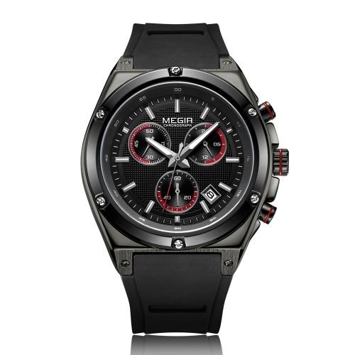 MEGIR 2073メンズ腕時計クォーツスポーツシンプル腕時計