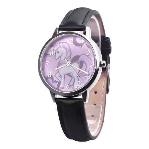Reloj encantador del unicornio de la historieta de la moda