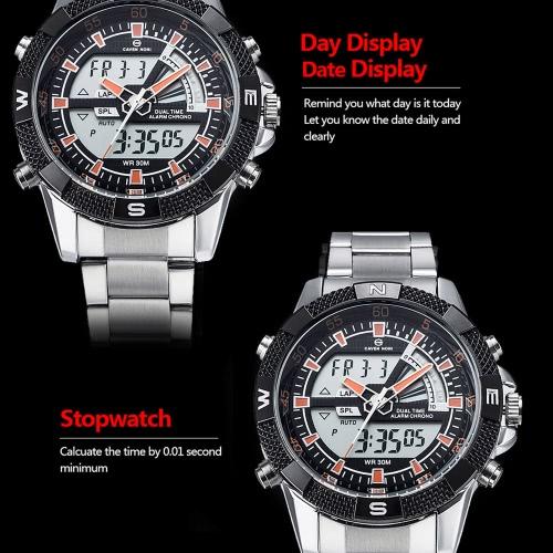 ASJ Mens Business Sport Military Wrap Wrist Quartz Watch DualApparel &amp; Jewelry<br>ASJ Mens Business Sport Military Wrap Wrist Quartz Watch Dual<br>